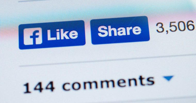 The Facebook Like and Share buttons