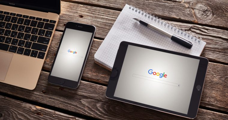 The google home page on several smart devices