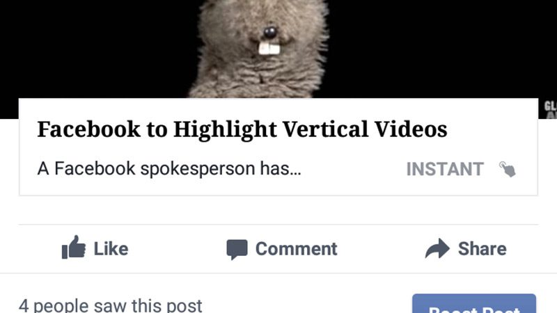 An example of a Facebook instant article