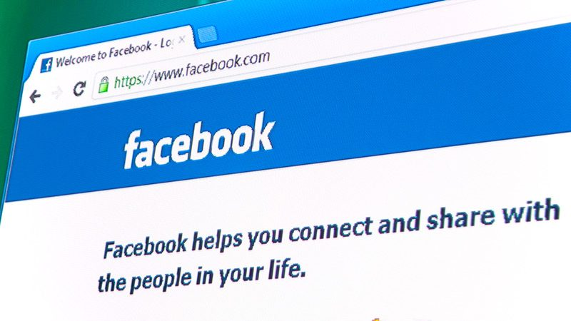 The Facebook homepage