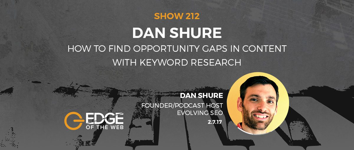 Show 212: How to find opportunity gaps in content with keyword research, featuring Dan Shure