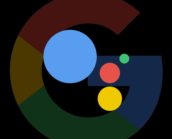 Generic image of the Google logo with the Google Assistant overlayed on top