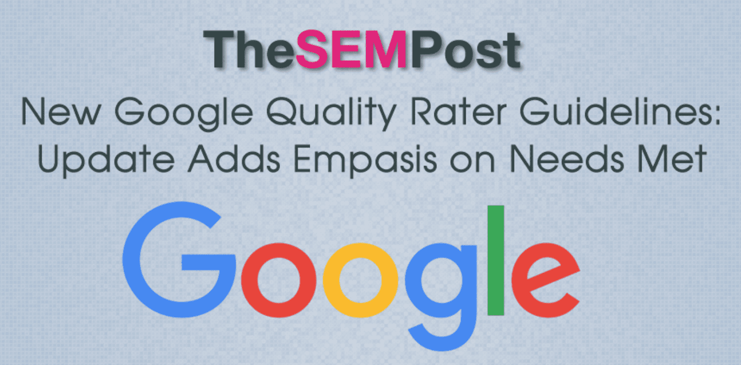 Google Quality Rater Guidelines Article