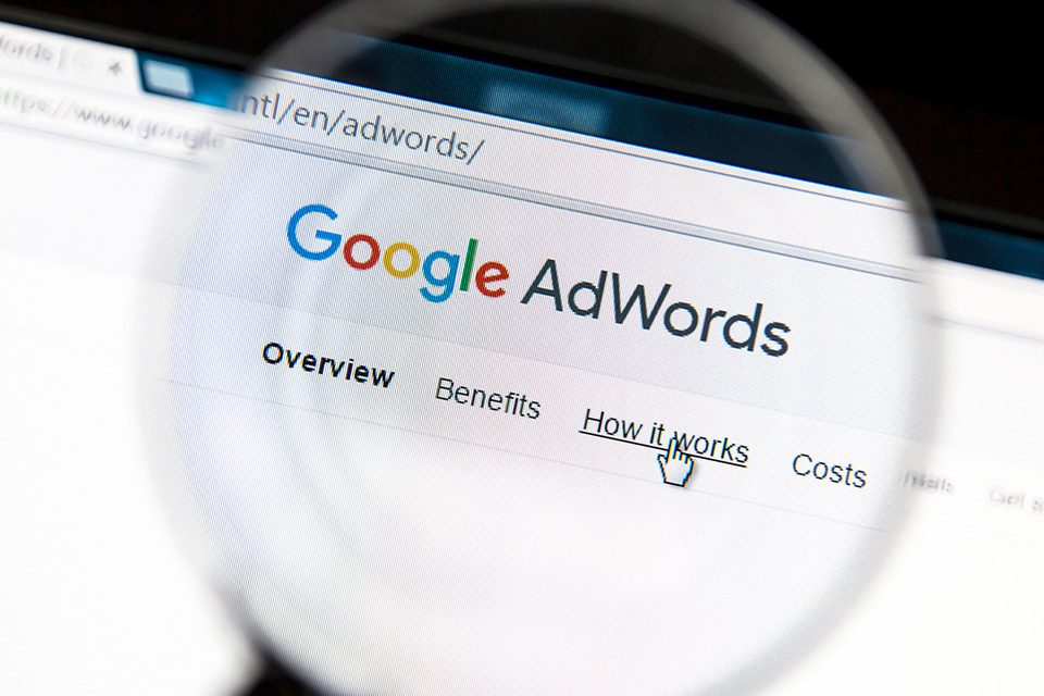The Google AdWords homepage
