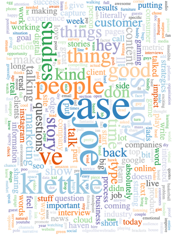 Joel Klettke Interview Word Cloud